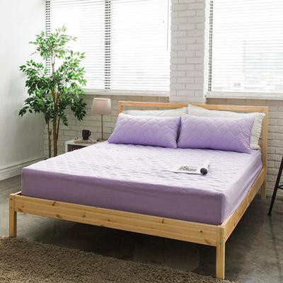 美夢元素 繽紛馬卡龍保潔床墊-單人〈薰衣草紫〉