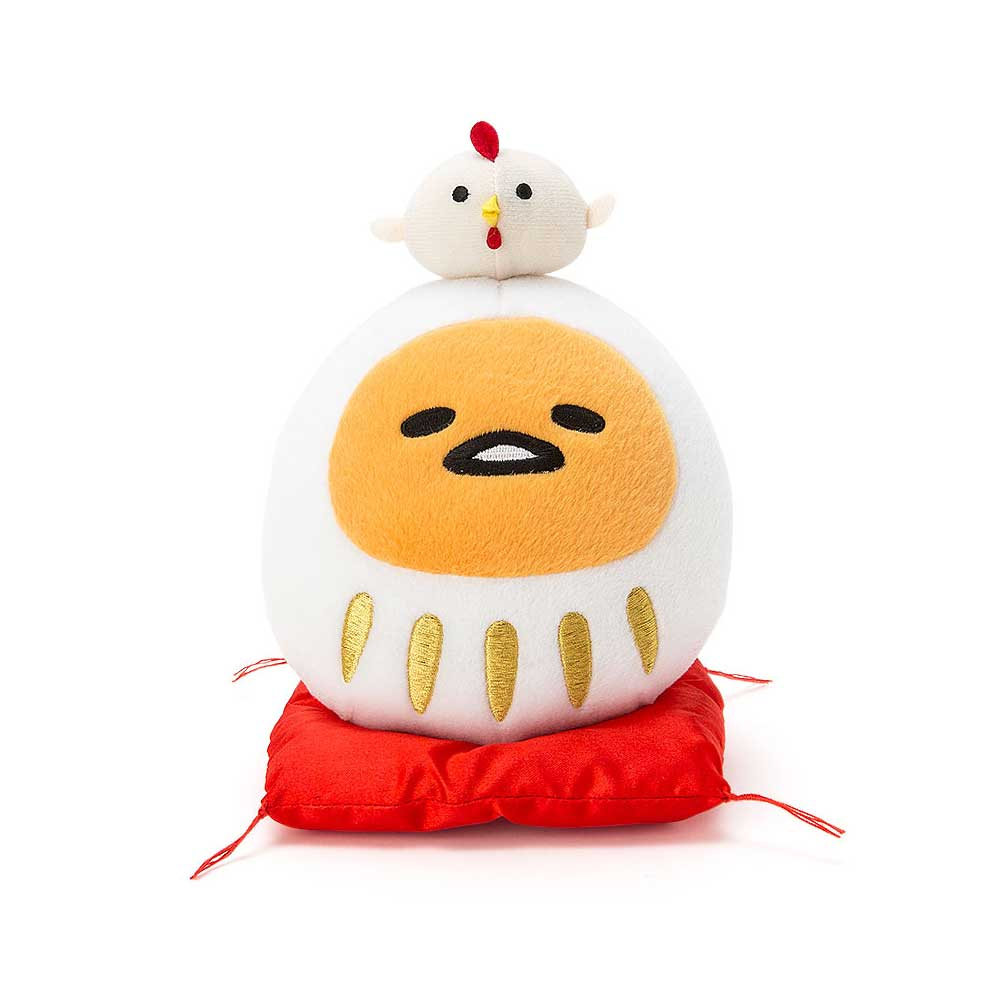 Sanrio 蛋黃哥達摩不倒翁裝扮絨毛娃娃