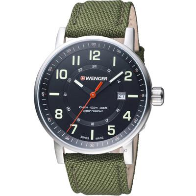 WENGER Attitude 態度野營生活休閒錶(01.0341.107)綠/43mm