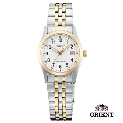 ORIENT 東方錶 OLD SCHOOL系列 藍寶石鏡面女錶-白x雙色版/26mm