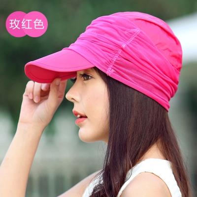 Seoul Show 男女可摺疊防水遮陽棒球帽  玫紅