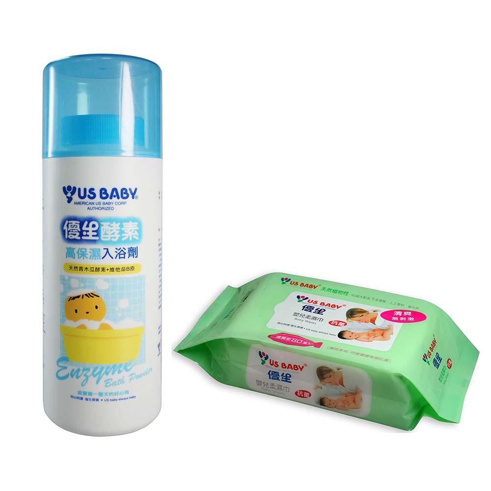 優生高保濕酵素入浴劑1000g+贈清爽型柔濕巾80抽