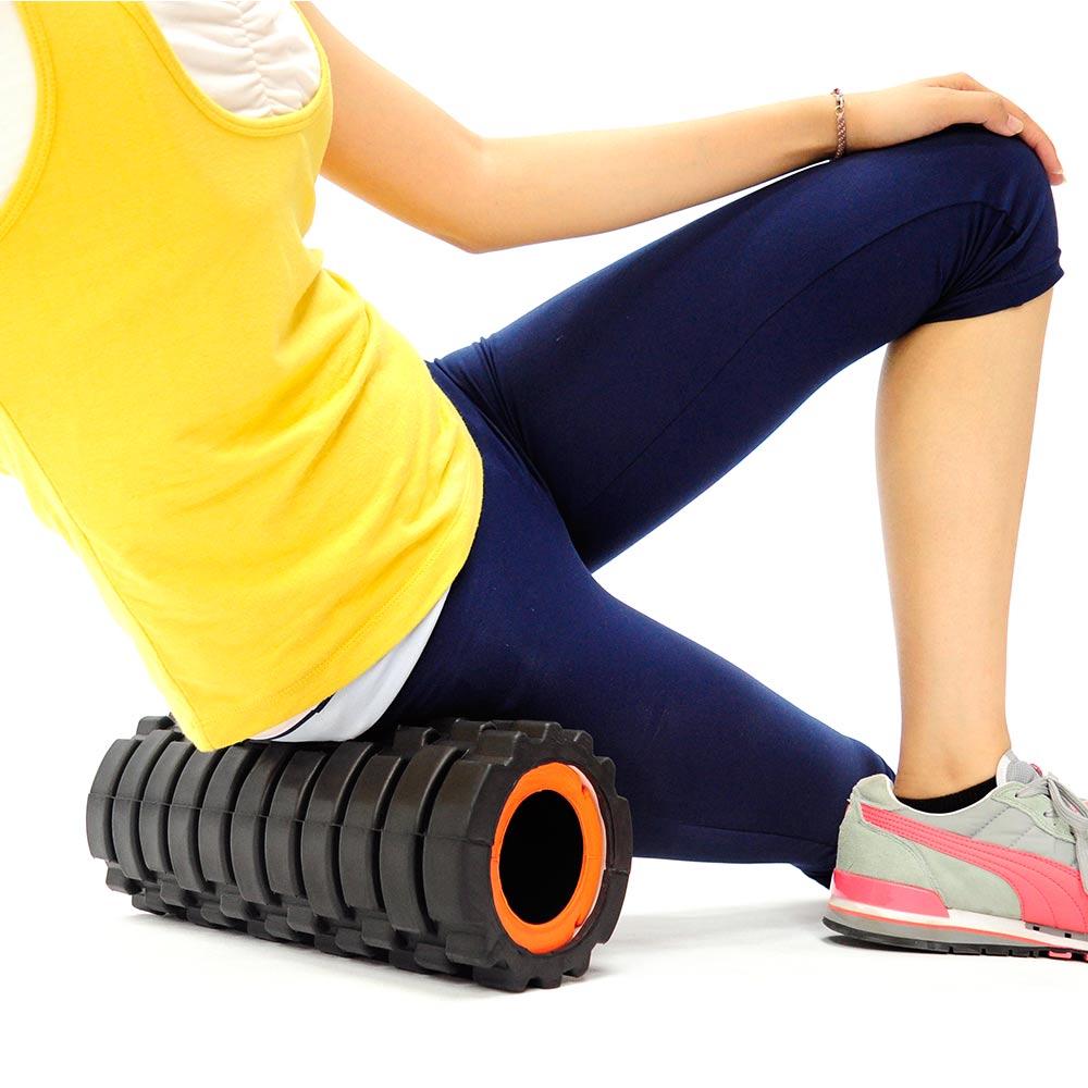 2in1中空瑜珈滾輪+瑜珈柱