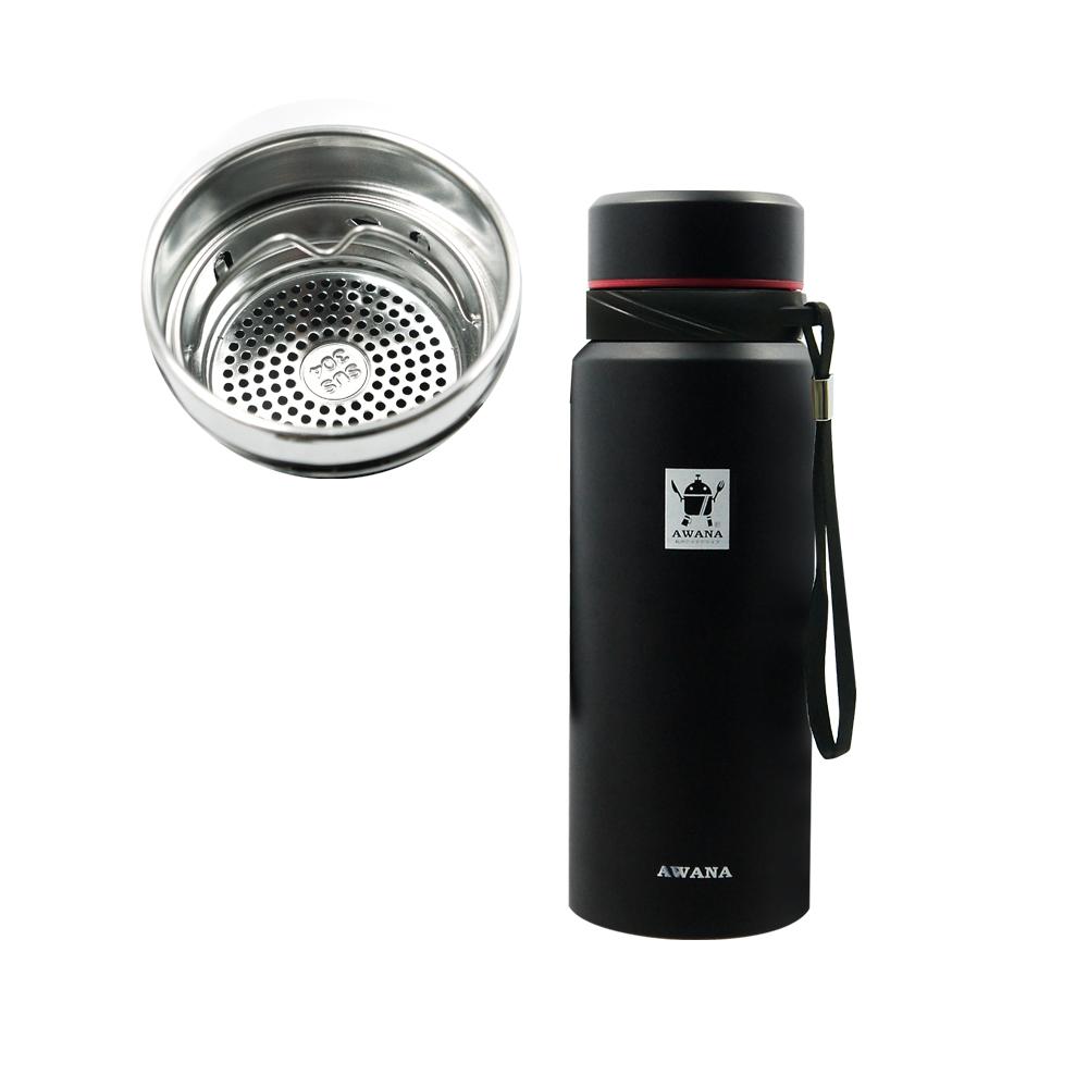 AWANA經典運動保溫瓶(附濾網)700ml(黑色)