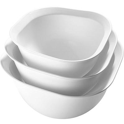 CUISIPRO 菱邊打蛋盆3件(白)