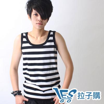 束胸-外穿式條紋掛?全身束胸-黑白寬條-LESGO束胸專賣