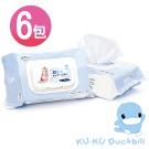 《KU.KU酷咕鴨》超純水嬰兒手口柔濕巾超厚80抽x6包超值組