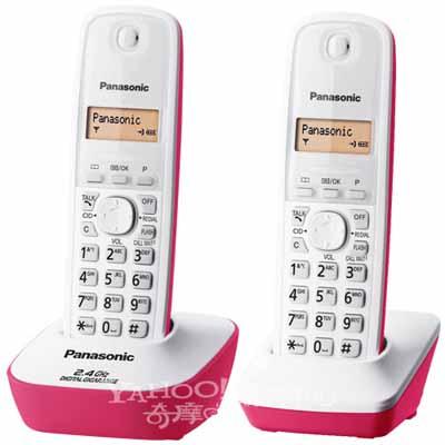 Panasonic 國際牌 2.4GHz 數位無線電話 KX-TG3412 (蜜糖紅)