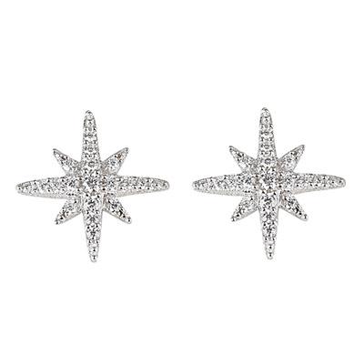 apm MONACO METEORITES系列晶鑽鑲飾小流星設計純銀耳環(銀)