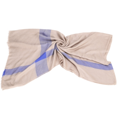 SCERVINO 駝色格紋圍巾
