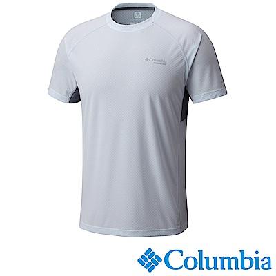 Columbia 哥倫比亞 男款-野涼感快排短袖上衣-白色 (UAE13070WT)