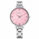 ViVi Fleurs 優雅凝情不鏽鋼時尚腕錶-銀x粉/33mm