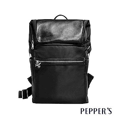 PEPPER`S  Blake 個性掀蓋後背包 - 黑