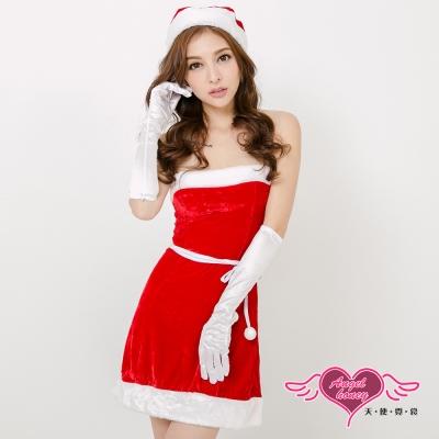 聖誕服 歡樂聖誕派對 經典俏皮耶誕洋裝(紅F) AngelHoney天使霓裳