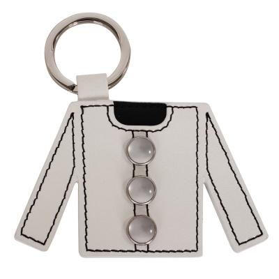 agnes b. 衣服造型皮革鑰匙圈-白色