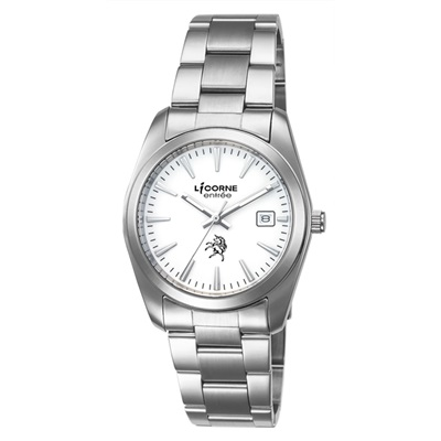 LICORNE 恩萃 Entree  復古簡約時尚設計都市腕錶-白/36mm