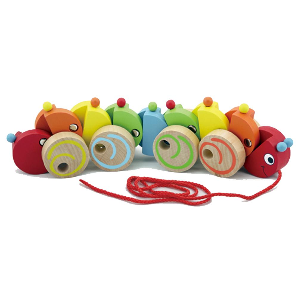 viga毛毛蟲趣味兒童學步拖拉玩具
