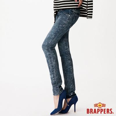 BRAPPERS 女款 Boy Friend Jeans系列-彈性直筒褲-雪花藍