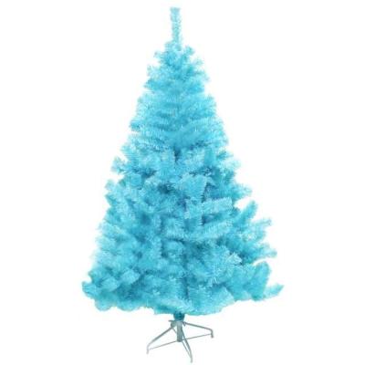 台製6尺(180cm)豪華版冰藍色聖誕樹-裸樹