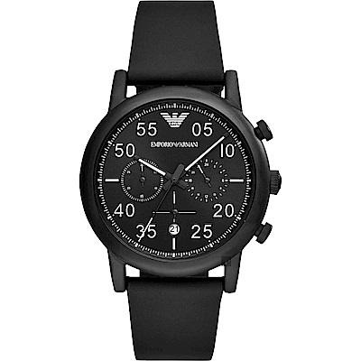 Emporio Armani Dress 亞曼尼復刻計時手錶-黑/43mm AR11133