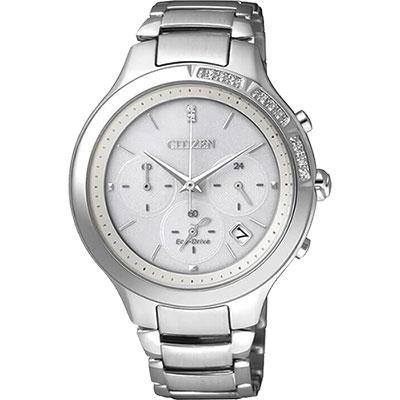 CITIZEN L系列 光動能水鑽計時錶(FB4000-53A)-銀/37mm