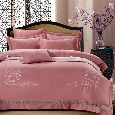 Grace Life 唯美漾點 60支精梳純棉雙人兩用被床罩八件組