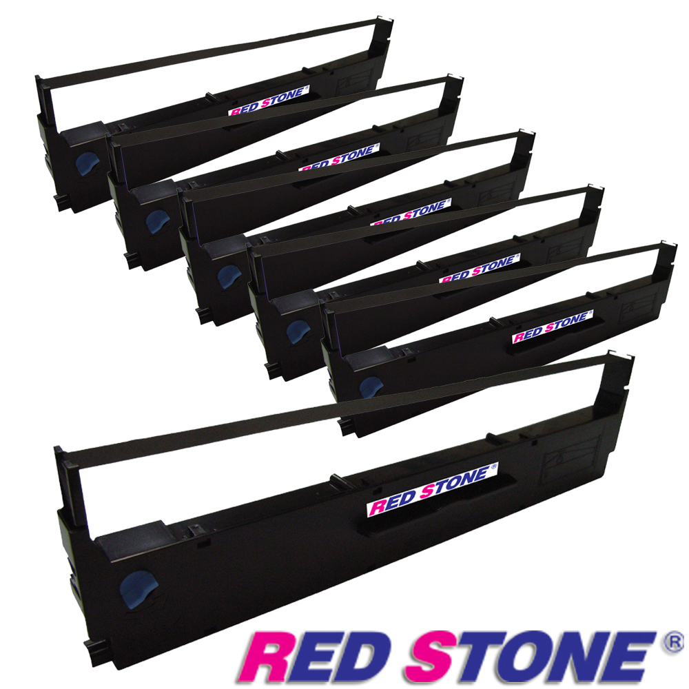 RED STONE for EPSON S015641/LQ310黑色色帶組(1組6入)