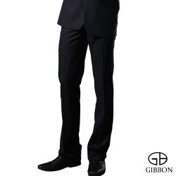GIBBON 輕光澤星紋毛料平口西裝褲‧深藍30~42