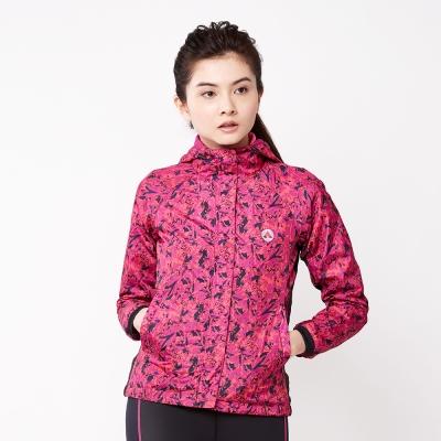 【AIRWALK】時尚個性花版風衣外套-中桃