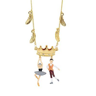 Les Nereides N2  優雅芭蕾舞女孩系列 王子與黑天鵝雙人舞 長項鍊
