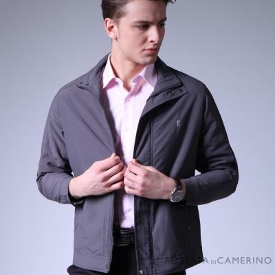 深灰色素面休閒夾克
