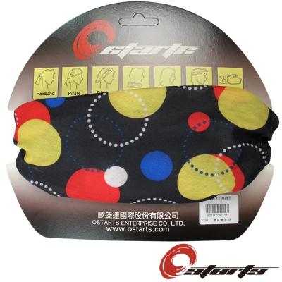 《OSTARTS》百變頭巾 1065 黑底大小球