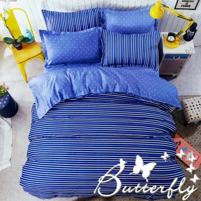 BUTTERFLY - 柔絲絨 加大薄床包枕套三件式「簡素」台灣製造