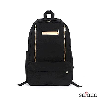satana - Soldier 輕旅行後背包 - 黑色