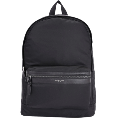 Michael Kors Kent Nylon 前袋設計尼龍後背包(黑色)