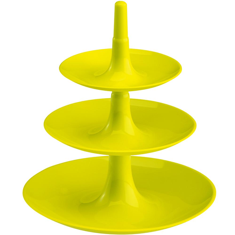 KOZIOL Babell 3層式點心盤(綠XS)