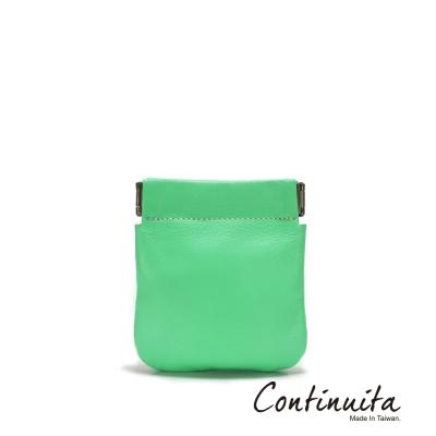 Continuita-康緹尼-MIT-頭層牛皮口袋零錢包-綠色