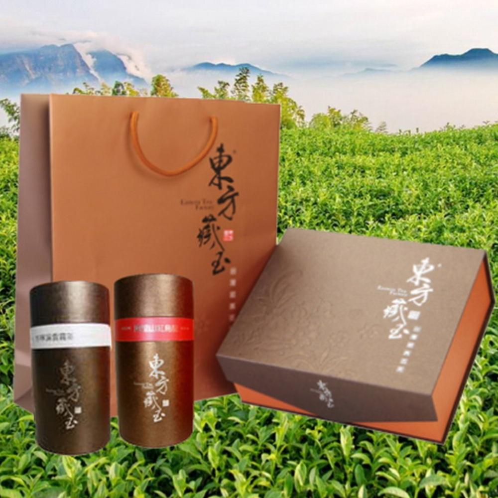 東方藏玉茶葉禮盒(杉林溪雲霧茶+阿里山紅烏龍)