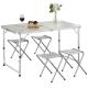 家可 高級鋁合金一桌四椅露營桌 (加贈市售399元的電蚊拍) product thumbnail 1