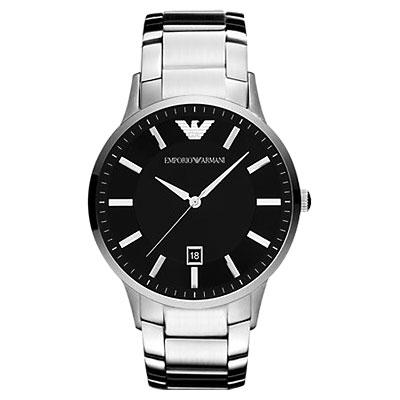 ARMANI Sportivo 時尚腕錶-黑/43mm