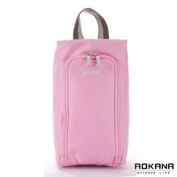AOKANA奧卡納 MIT台灣製 旅行鞋袋 便攜收納包(甜心粉)02-027