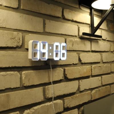 3D LED數字鐘 電子鬧鐘 時尚立體掛牆鐘 (小款)