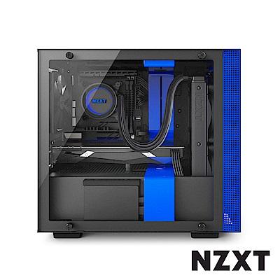【NZXT】H200i 智慧型電腦機殼-黑藍色
