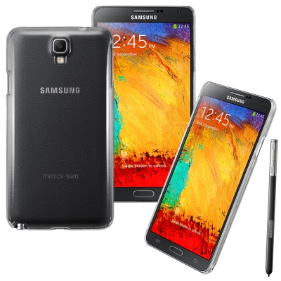 Metal-Slim Samsung Galaxy Note3 Neo PC透明...