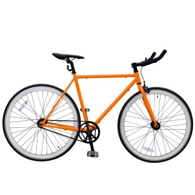 BIKEONE V2_EVO Fixed Gear單速車 英式時尚不敗經典款-橘色系