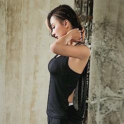 後紗垂感運動背心路跑運動罩衫(單上衣)   狐狸姬