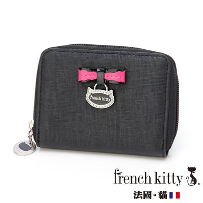 【french kitty】浪漫風尚-L- Lady系列零錢包-黑