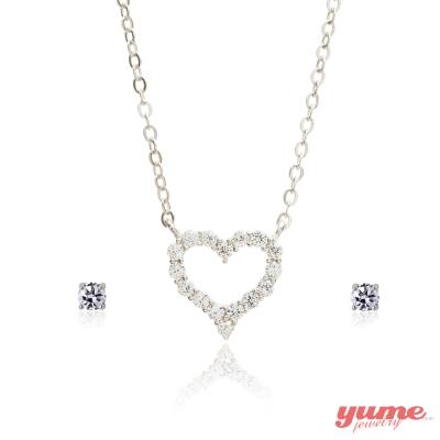 YUME 甜心摯愛套組(項鍊+耳環)