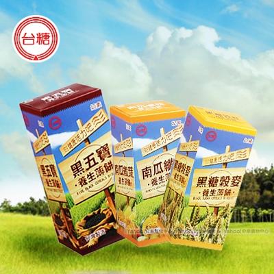 台糖 養生薄餅12盒(黑糖4盒/黑五寶4盒/南瓜4盒)