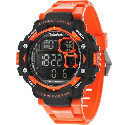 Timberland TUXBURY系列多功能數位腕錶-橘/52.5mm